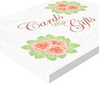 Cartões & presentes que Wedding o sinal Impressão Em Tela