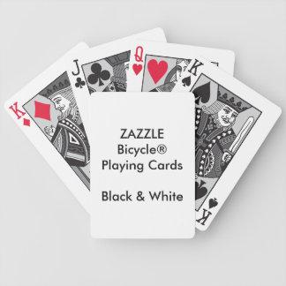Cartões pretos & brancos de Bicycle® feito sob Jogo De Carta
