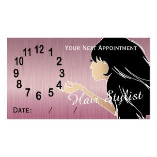 Cartões profissionais da nomeação do cabeleireiro cartão de visita
