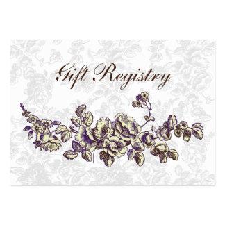 cartões roxos da lista de presentes modelo cartao de visita
