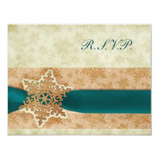 cartões rústicos rústicos do rsvp do casamento no