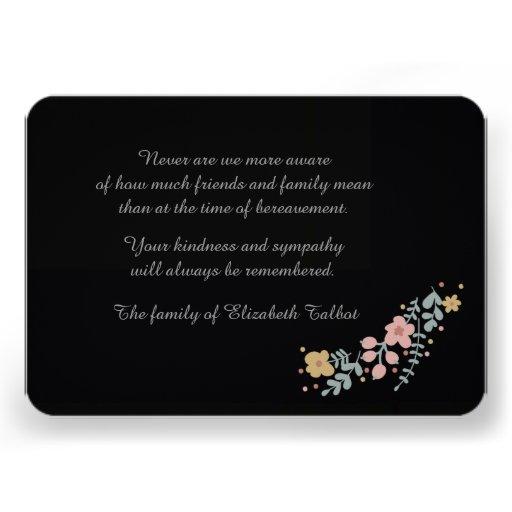 Cartões Starless do falecimento (3,5 x 5) Convite Personalizados