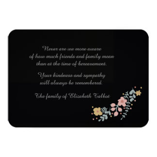 Cartões Starless do falecimento (3,5 x 5) Convite 8.89 X 12.7cm