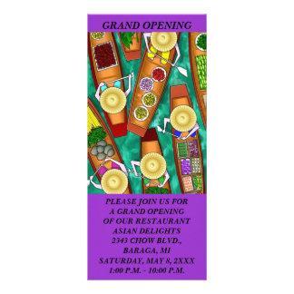 Cartões TEMÁTICOS da cremalheira da COMIDA GR8 ASI Planfeto Informativo Colorido
