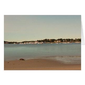 Cartões vazios litorais de Nova Inglaterra