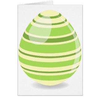 Cartões verdes do ovo da páscoa