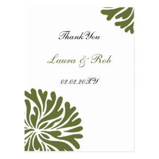 cartões verdes e do branco ThankYou Cartão Postal