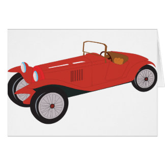 Cartões vermelhos clássicos do carro