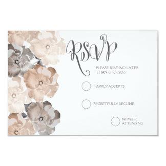 Cartões Wedding cinzentos dos rosas RSVP do Convite Personalizado