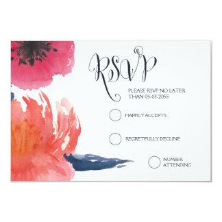 Cartões Wedding florais da aguarela RSVP do Convite Personalizados