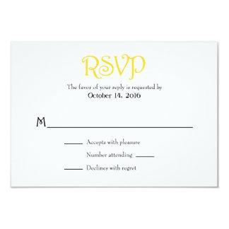 Cartões Wedding simples lisos brancos amarelos de Convite 8.89 X 12.7cm