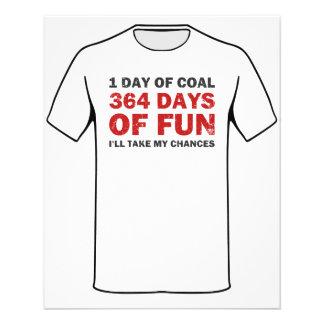Carvão do Natal CONTRA 364 dias do divertimento Flyer 11.43 X 14.22cm