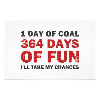 Carvão do Natal CONTRA 364 dias do divertimento Papelaria