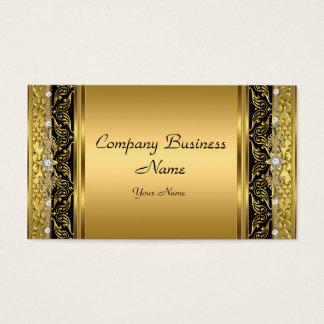 Carvão elegante elegante do ouro cartão de visitas