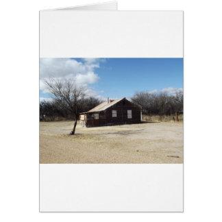 Casa abandonada do fantasma cartão
