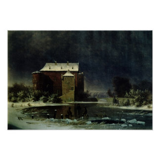 Casa assombrada na neve, 1848 poster