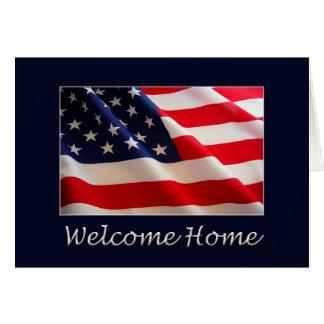 Casa bem-vinda cartão