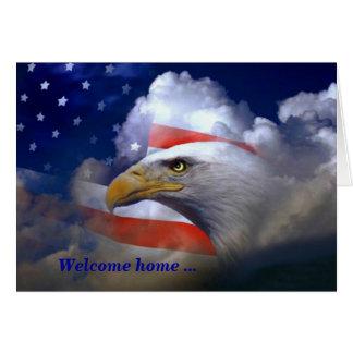 Casa bem-vinda e cartões de agradecimentos de