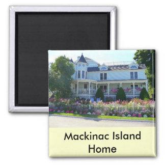 Casa da ilha de Mackinac Ímã Quadrado