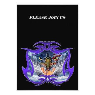 Casa de América do Retirment militar bravo Convite 12.7 X 17.78cm