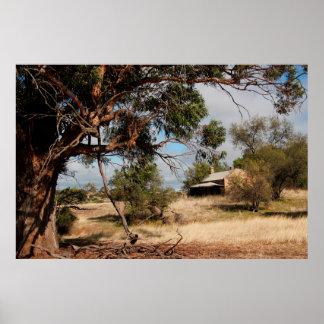 Casa de campo australiana da herança poster