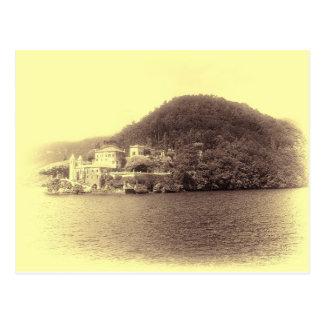 Casa de campo Balbianello de Como do lago Cartão Postal