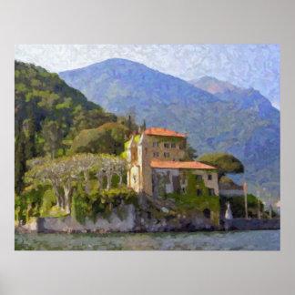 Casa de campo Balbianello poster de Como do lago