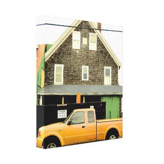 Casa de praia original da fotografia impressão em tela