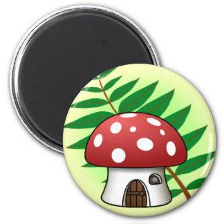 Casa do cogumelo imãs