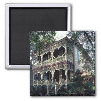 casa do victorian ímã quadrado