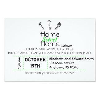 Casa doce Home Convite 8.89 X 12.7cm