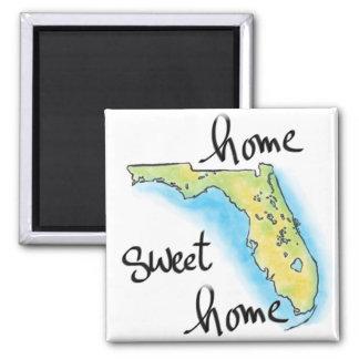 Casa doce Home de Florida Ímã Quadrado