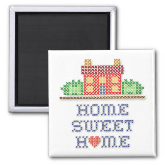 Casa doce Home Ímã Quadrado