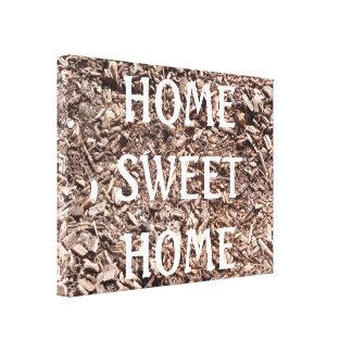 Casa doce Home, latido de árvore, natureza, canvas