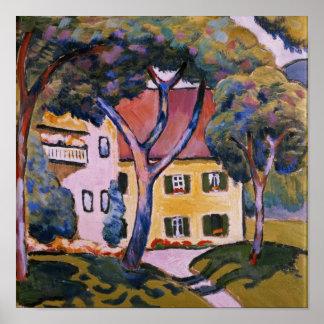 Casa em uma paisagem poster