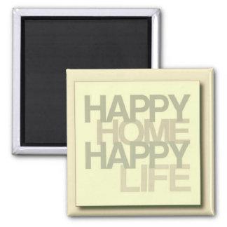Casa feliz ímã quadrado