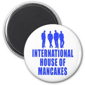 Casa internacional de Mancakes Ímã Redondo 5.08cm