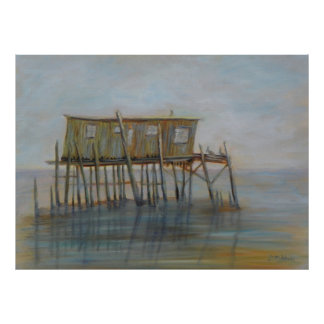 Casa na chave do cedro, poster do pelicano de Flor