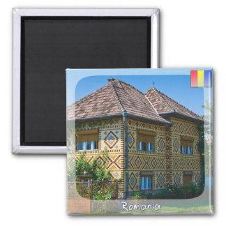 Casa romena ímã quadrado