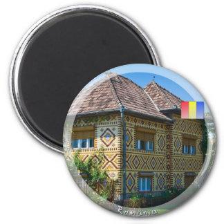 Casa romena ímã redondo 5.08cm