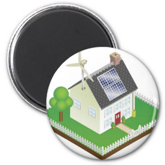 Casa sustentável da energia renovável imãs de geladeira