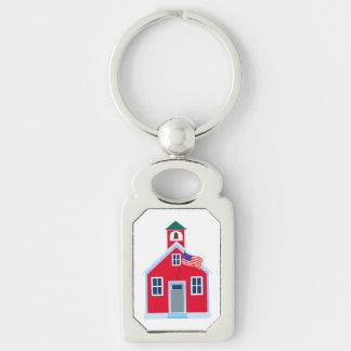 Casa vermelha da escola chaveiro