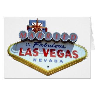 CASADO em cartões fabulosos de Las Vegas