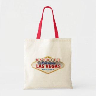 CASADO na sacola fabulosa da lembrança de Las Vega Bolsas Para Compras