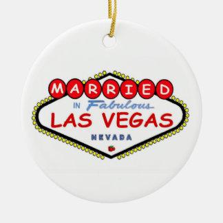 CASADO no ornamento fabuloso de Las Vegas