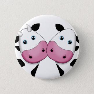 Casal bonito da vaca bóton redondo 5.08cm