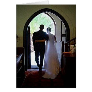 Casal de recem casados cartao