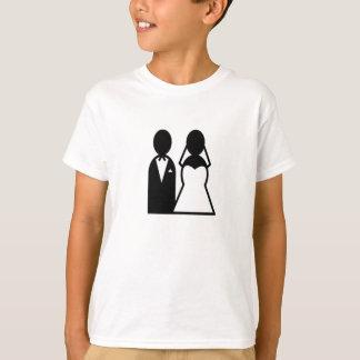 Casal do casamento do ícone t-shirt
