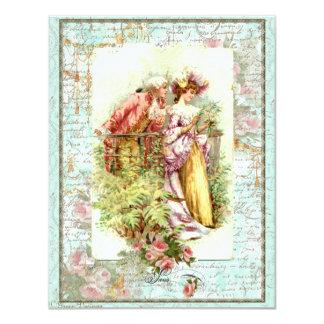Casal romântico da regência do vintage com rosas