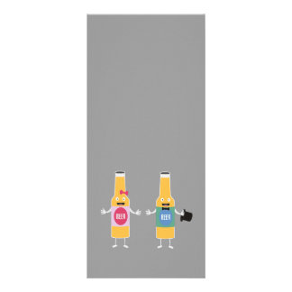Casal Zn4bx de Beerbottle do casamento 10.16 X 22.86cm Panfleto